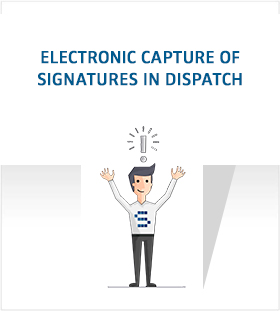Electronic capture of the signature in dispatch